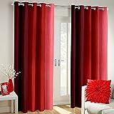 Weavers Villa Set Of 2 Window / Door Stripe Design Faux Silk Polyester Blend Designer Curtains [ 7 Ft - Window/Door ]