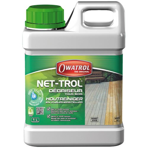 Preisvergleich Produktbild Owatrol NET-TROL Holzreiniger & Aufheller, 1 Liter Gebinde