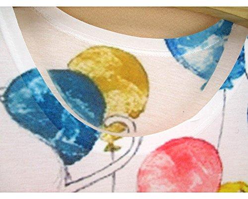 ACVIP Femme T-shirt à Col Rond Manche Courte Blouse Top Eté Ballon
