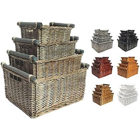 Cucina Cesto con manici in legno cesto regalo cesto di