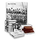 Lustiges New York City Essen Geschenk ⌘'NEW YORK CITY' ⌘ ein schönes NYC Schokolade Set! (Schwarz-Weiss)