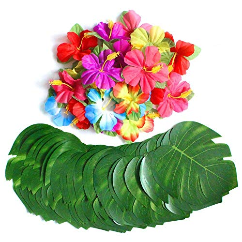 pangmao Hawaiian Gras Rock mit Blumen Party Fancy Kleid für Hawaii Sommer Strand Tropical Hawaii-Party