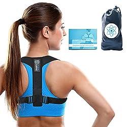 Sports Laboratory ® PRO+ Haltungskorrektur Geradehalter Schulter Rücken Haltungsbandage mit verstellbare Größe für Damen und Herren