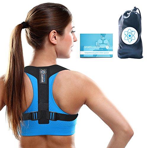 Sports Laboratory ® PRO+ Corrector de Postura Espalda y Hombros Para Hombre y Mujer Talla Única, Faja para Dolor de Espalda, Chaleco Corrector, Enderezador de Espalda, Gratis Bolsa & eBook