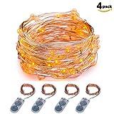 Lichterkette Batteriebetrieben ITART 20LEDs Deko Lichterkette Weihnachtsbeleuchtung Deko Weihnachten Party Ambientebeleuchtung 2M (4er) (Orange)