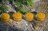 Figura Santa Bienenwachs Teelichte & Gläschen. 10 Bienenwachsteelichte & 4 Glashalter. Voyage. Der einfachste Adventskranz der Welt. Reisetauglich, ökologisch & nachhaltig!