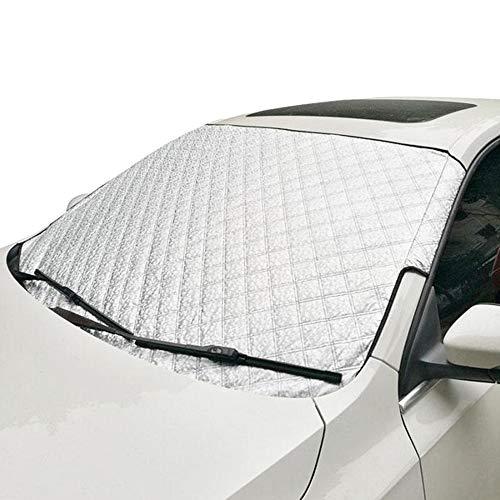 Premium Auto Windschutzscheibe Sonnenschutz, Frontscheiben Abdeckung für alle Jahreszeiten - Faltbare Abnehmbare Wasserdicht - Sommer Sonne Winter Schnee Frost Eisschutz (145x100cm)