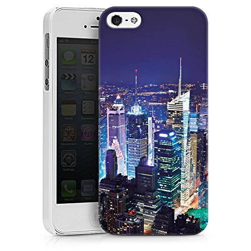 Apple iPhone X Silikon Hülle Case Schutzhülle Stadt Skyline Big City Hard Case weiß