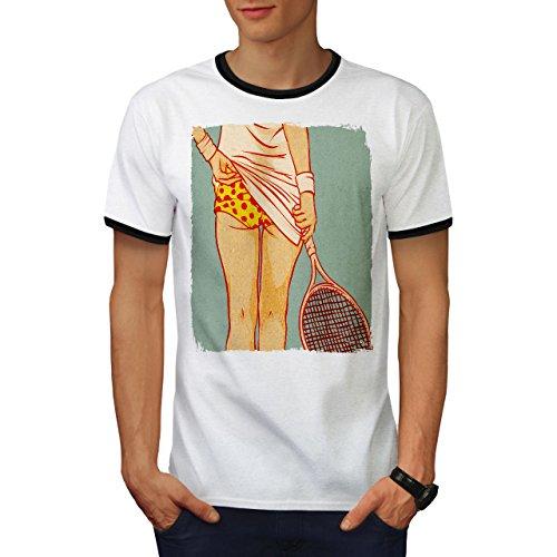 Tennis Mädchen Hintern Sexy Gammler Haupt Herren S Ringer T-shirt | Wellcoda (Tennis-küken)