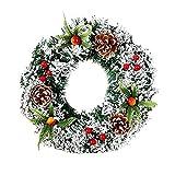 MoGist Weihnachtskranz Niedlich Weihnachtsbaum Hochzeit Dekoration Girlande Tür Kranz Adventskranz für Tür und Fenster Weihnachtsbaum (Bunt-40cm)