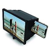 Lupa para teléfono móvil 3D retráctil de 12 Pulgadas con Soporte, Amplificador de Pantalla de...