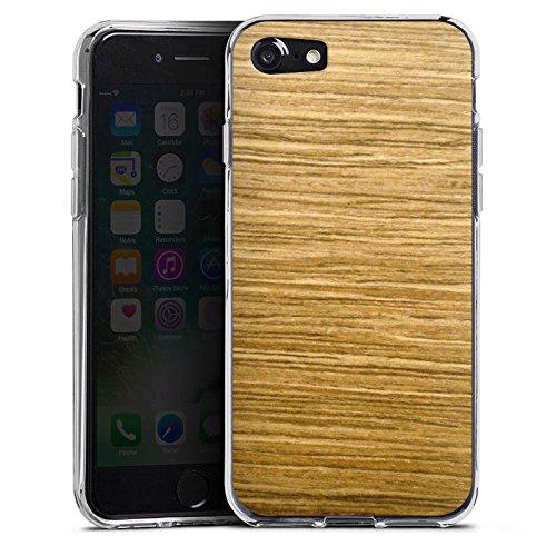 Apple iPhone X Silikon Hülle Case Schutzhülle Holz Look Eichenholz Maserung Silikon Case transparent