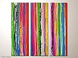 Acrylbild bunt, Vielfarbiges Gemälde mit strahlenden Farben: