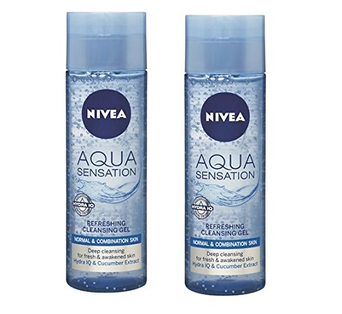 Price comparison product image 2 Nivea Visage Aqua Sensation Invigorating Cleansing Gel 2 X 200 Ml 6.7 Oz by Nivea