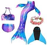 Guter Handwerker Mädchen Meerjungfrauenschwanz zum Schwimmen,Mermaid Tail, für Mädchen, Jungen, Kinder und Erwachsene Monofin Girlande INKLUSIVE (Perfekte Prinzessin, 150)