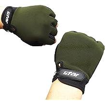 Antiskid Gloves, Toamen Men's Cycling Bike Gym Hiking Camping Fitness Sports Half Finger Gloves