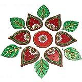 KRIWIN Floor/Wall /Table Rangoli Decorative Showpiece (Acrylic) (Leaf)