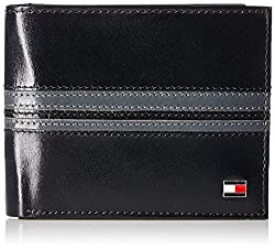 Tommy Hilfiger Crotone Plus Black and Grey Mens Wallet (TH/CROT.P01GCW/BLK/GRY)