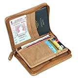 #10: Style98 Tan Premium Leather Zipper Passport Pouch||Passport Wallet||Passport Holder||Travel Wallet