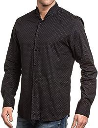 BLZ jeans - Chemise chic homme noire à motifs