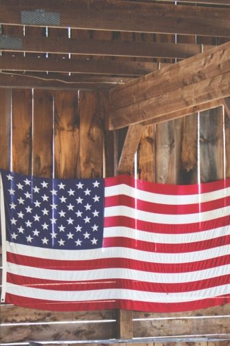 american-flag-in-the-barn-150-page-lined-6-x-9-notebook-diary-journal