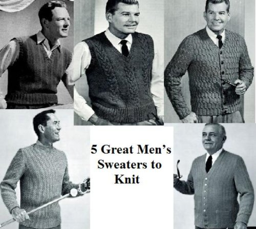 5 Große Herren Pullis zu stricken