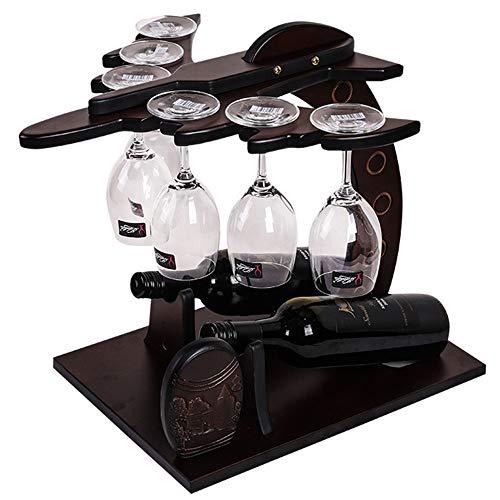 GEPFD-WINRK Weinflaschenbecher Glashalter, Massivholz Weinregal, dekorative Weinflaschenhalter, freistehende Restaurant-Arbeitsplatte Weinregal Display-Stand (40x40x41cm) (Arbeitsplatte Weinkühler)