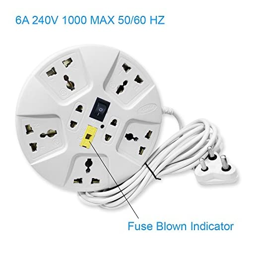 Excellent Elove 6 Amp Multi Plug Point Extension Cord White Accessories Wiring 101 Akebretraxxcnl