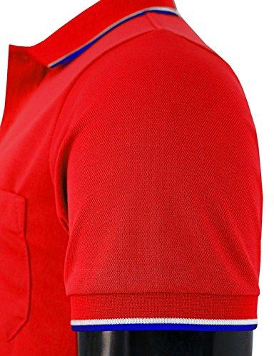 BCPOLO Männer Poloshirt Dri Fit Short Sleeve Grund Polo Shirts Red