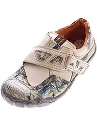 Chaussures femme en cuir, tMA eYES 1901, mocassins homme-noir/bleu/blanc/vert baskets sneakers used look