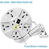 Elove Multi-Plug Point Extension Board (White)