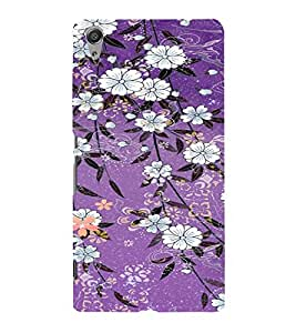 PrintVisa Flower Pattern 3D Hard Polycarbonate Designer Back Case Cover for Sony Xperia C6