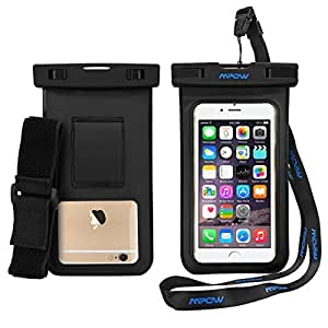 Waterproof Case with Armband, Mpow IPX8 Waterproof Underwater Phone Case Dry Bag with Armband Holder Watertight Bag Harmless PVC&ABS Construction Pouch for iphone7,6,5, HTC,LG, Sony, Nokia