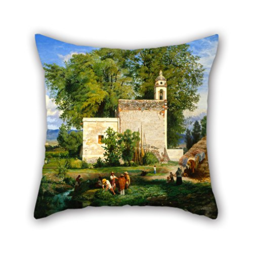 Slimmingpiggy Pillowcase Of Oil Painting Luis Coto - Landscape Of San Cristóbal Romita 16 X 16 Inches / 40 By 40 Cm,best Fit For Kitchen,couch,husband,birthday,son,kids Girls 2 Sides
