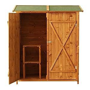 Outsunny casetta armadio porta attrezzi per esterno for Mobili per giardino