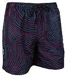 GUGGEN Mountain Herren Badeshorts Beachshorts Boardshorts Badehose Schwimmhose Männer Print* Farbe Rot S