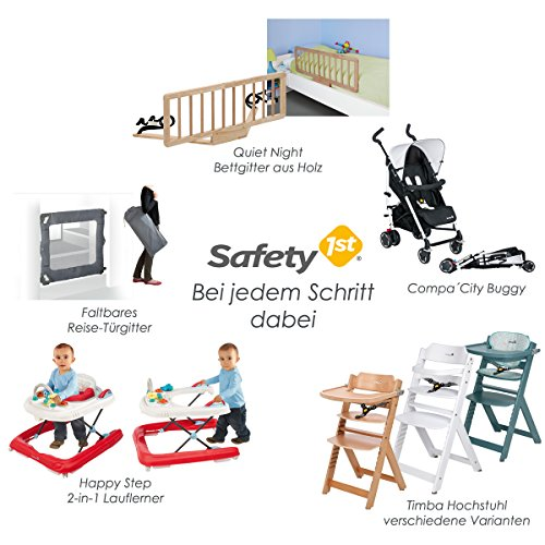 Safety 1st Kanji Hochstuhl mit 5-Punkt-Gurt und praktischem Esstisch, red dot -