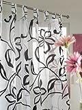 Schlaufenschal Blüte weiss/schwarz