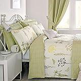 Dreams & Drapes - Botanique - Easy Care Duvet Cover Set - Double, Green