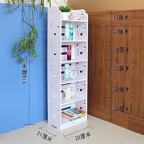 Europeo stile semplice scarpe rack scaffali mensole soggiorno camera da letto bagno rack pavimento mensola 6 storey 118 cm width 28 cm -N12028