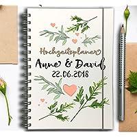 Hochzeitsplaner - Hochzeitscheckliste - Wedding planer PERSONALISIERT Flora
