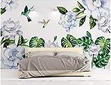 BHXINGMU Benutzerdefinierte Wandbilder Fototapeten Pflanzen Und Blumen Und Vögel Großes Schlafzimmer Wohnzimmer Dekoration Aufkleber 300Cm(H)×450Cm(W)