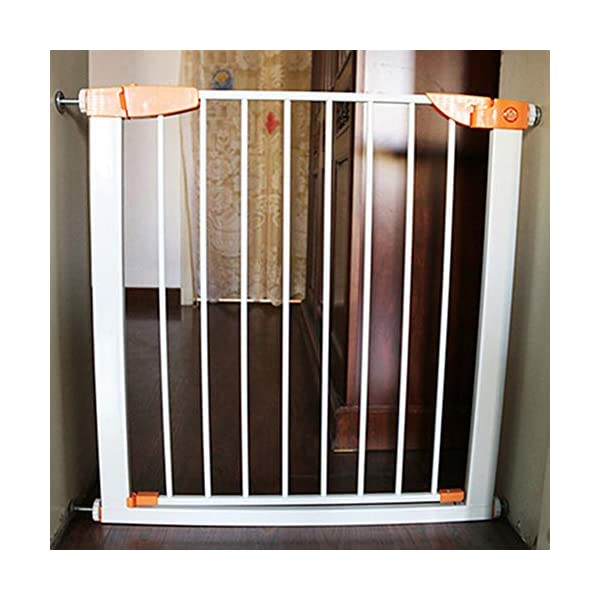 Pet fence safety door guardrail baby pole corridor stairs balcony cat and dog pet isolation gate AA-SS-Safety Door ♥Squeeze and lift handle for easy one handed adult opening ♥Quick-release fittings for removal when not required ♥Includes stop pins for mounting at the top of stairs 2