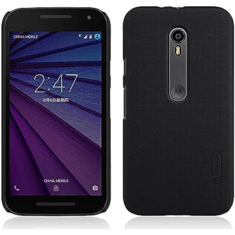 TopAce® High quality hard cover caso + Protector de pantalla para Motorola Moto G4 Play (Negro)