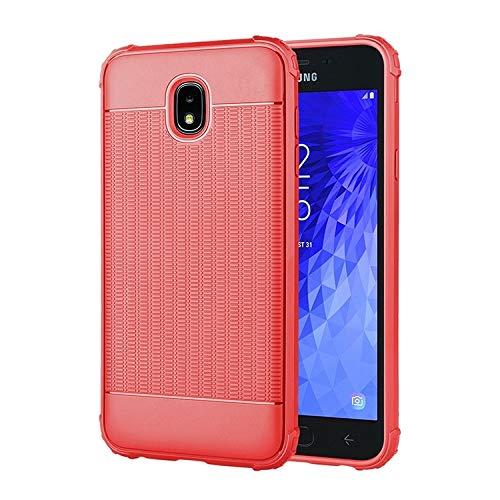 XYAL0002001 Für Samsung Galaxy j7 (2018), Cube textur stoßfest TPU Fall für Samsung Galaxy j7 (2018), Xingyue Aile Hüllen & Cover (Farbe : Rot) -