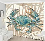 HONGYZCL Acht Krallenkrabbe 3D Digitaldruckvorhang Geeignet Für Zuhause Schlafzimmer Wohnzimmer,300Cm(W)×270Cm(H)
