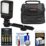 Essentials Bundle For Bell & Howell DV200HD HD Digital Video Camera Camcorder With LED Video Light + AAA Batteries & Charger + Case + Kit