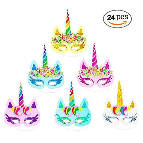 Miss.AJ 24 Unidades máscaras Unicornio - Unicornio