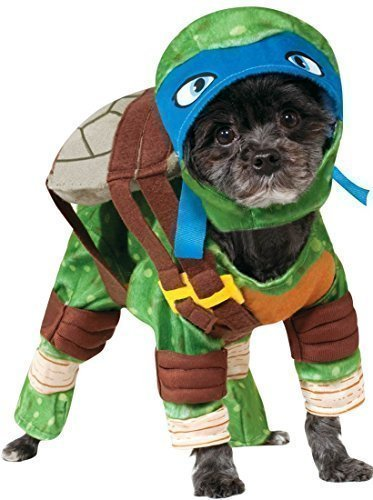 Fancy Me Haustier Hund Katze Teenage Mutant Ninja Turtles Halloween Film Cartoon Kostüm Kleid Outfit Kleidung Kleidung - Blau (Leonardo), ()