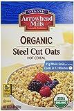 Arrowhead Mills, Organic Steel Cut Oats, Hot Cereal, 24 oz (680 g)